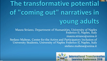 Prof.ssa Maura Striano per 'International Transformative Learning Conference' 2018