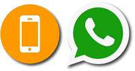 icona di un telefono mobile e whstsapp