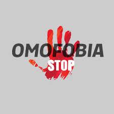 l'immagine è caratterizzata da una mano aperta e dalla scritta stop omofobia