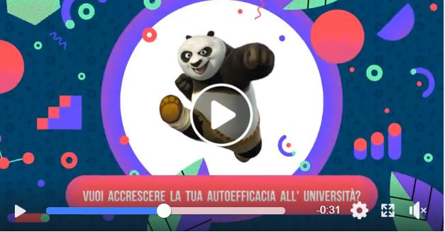 Kung fu panda in una mossa di kung fu