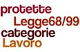 nuvola di parole: Lavoro categorie protette legge 68/99