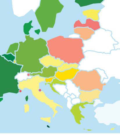 cartina est europa