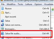 fig. 12 Salvataggio dei file audio in Balabolka