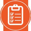icona di un elenco con caselle di spunta