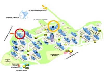 Immagine della piantina del Policlinico