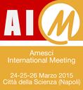 Logo dell'evento Amesci International Meting, che si svolgerà il 24, 25 e 26 marzo 2015 presso Città della Scienza (Napoli)