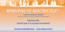 Servizi per il Successo Formativo - Benvenute matricole