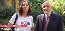 Il Prof. Paolo Valerio, Direttore del Centro di Ateneo SInAPSi, intervista la Presidentessa del CENESEX e Membro dell'Assemblea Nazionale del Potere Popolare di Cuba,  MARIELA CASTRO.