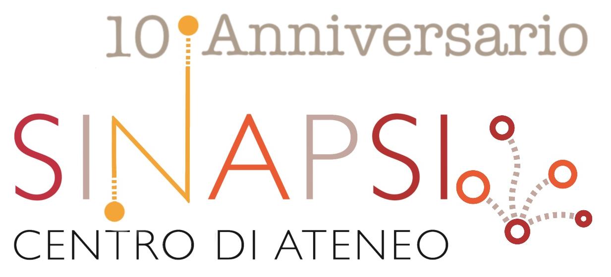 Logo del Centro SInAPSi con la scritta 10° Anniversario