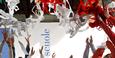 """immagine di braccia alzate e nastri colorati sulla scritta """"scuole"""""""