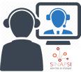 immagine di due figure in videoconferenza e logo SInAPSi
