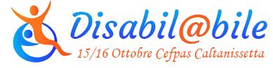 Logo con la scritta Disabil@bile 13/16 Ottobre Cefpas Caltanissetta