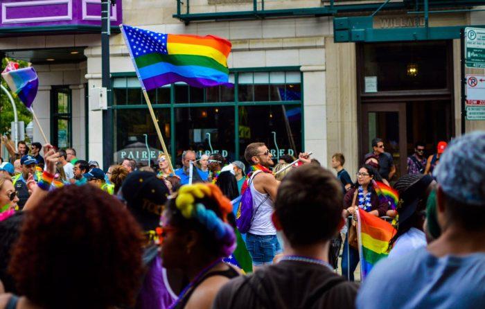 foto scattata durante il pride