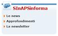 Immagine del menu di sezione SInAPSinforma