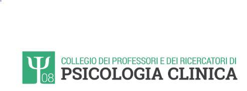 Logo del Collegio dei Professori e Ricercatori di Psicologia Clinica. Clicca per visitare il sito.