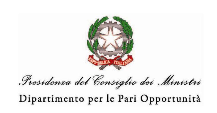 Logo Dipartimento per le Pari Opportunità. Clicca per visitare il sito.