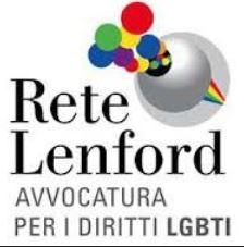 Logo Rete Lenford Avvocatura per i diritti LGBTI. Clicca per visitare il sito.