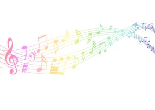 Note musicali colorate