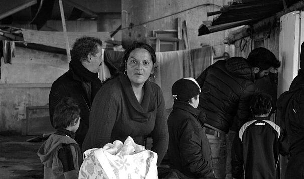 una foto scattata durante l'esperienza presso il campo rom