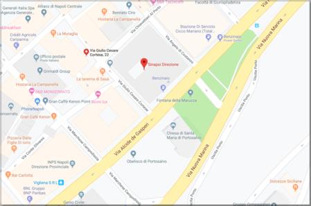 Mappa della sede amministrativa