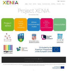 Pagina iniziale del sito del Progetto Xenia