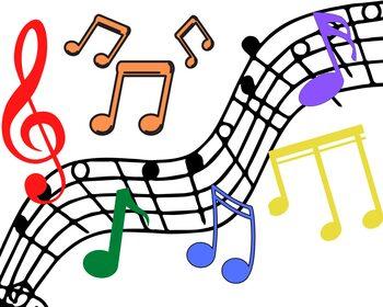 Note musicali rainbow