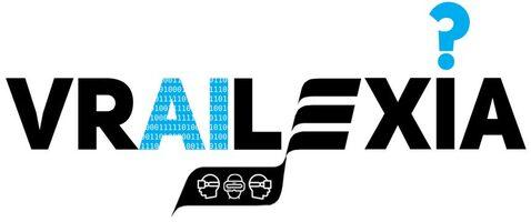 Logo del progetto VRAILEXIA, con la scritta VRAILEXIA e piccoli elementi grafici