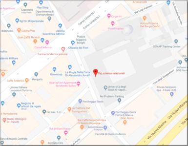 mappa della sede di Via Porta di Massa