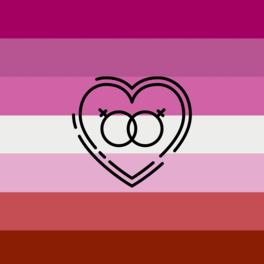 Immagine della bandiera della comunità Lesbica
