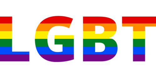 scritta rainbow lgbt