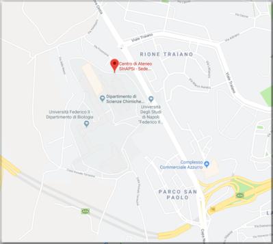 mappa della sede operativa di Monte Sant'angelo