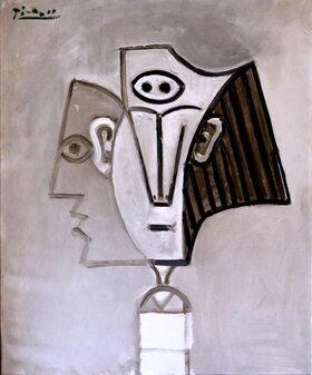 Dipinto di Picasso che rappresenta più facce