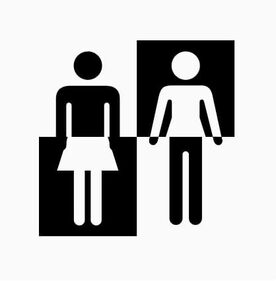 Icone uomo e donna miste